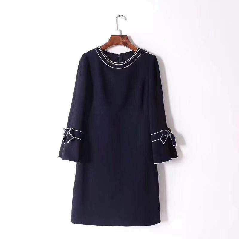 Lady Woven long sleeve T-shirt dress
