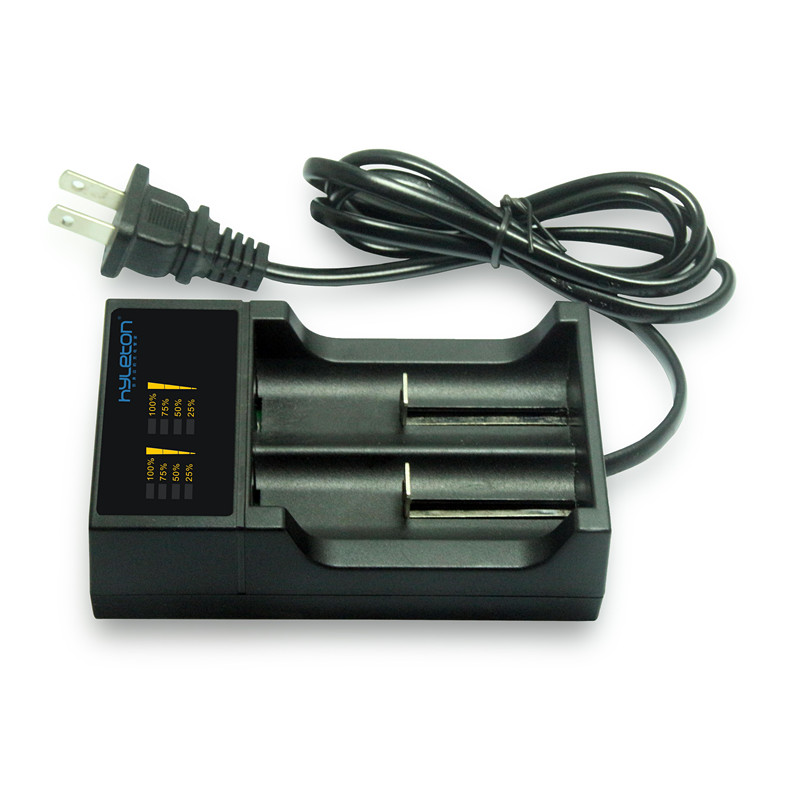 Battery Charger for 3.7V Rechargeable Lithium 18650 Battery with USB Connecter