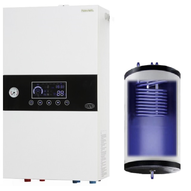 Electric boiler with built-in 50 liter tank 12 kW