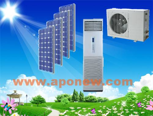 100% 48V/24V Solar powered air conditioners stand type