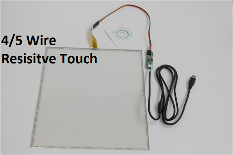 5~22 inch resistive touch screen panel with EETI Controller board usb interface