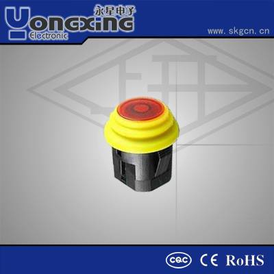 IP65 3A 250VAC rubber push button double pole
