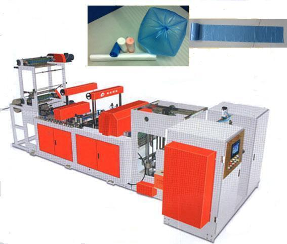 Full Auto Plastic Garbage Bag on Roll Making Machine