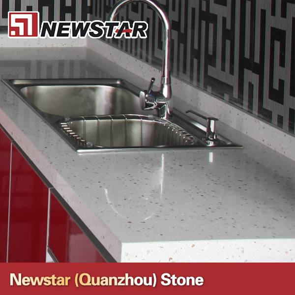 Newstar prefab quartz countertops with kitchen sink