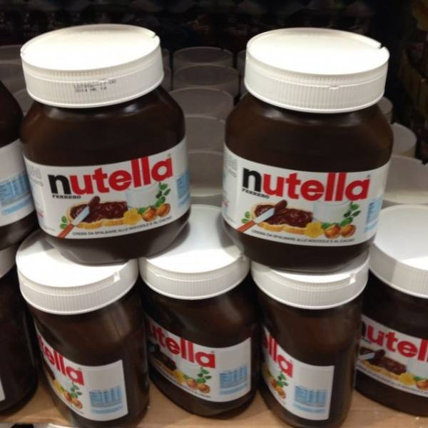 FERRERO NUTELLA CHOCOLATE CREAM 15G MINI BAGS, 230G, 350G, 600G, 750G, 825G AND 3KG TINS