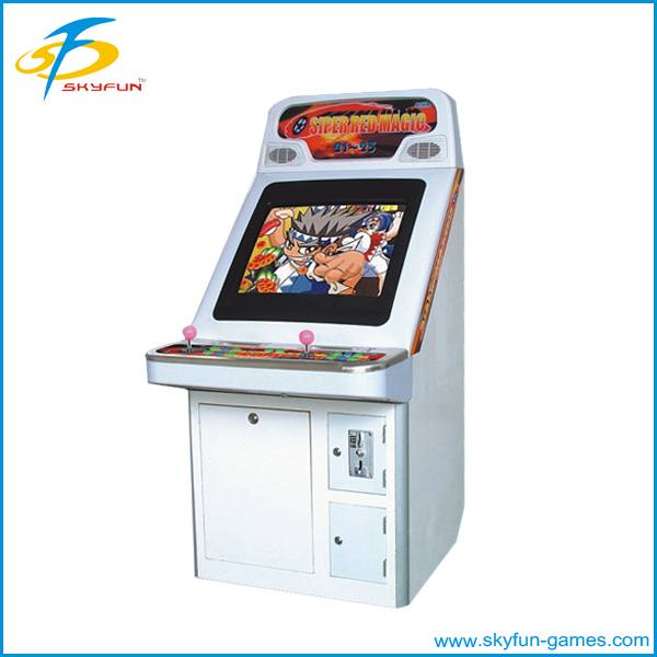 Electronic coin operated garage game machine