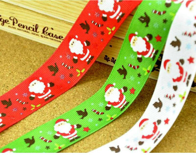 Wholesale Christmas Printed Ribbon For Decorations
