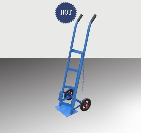 Single medical gas cylinder trolleys with two wheels RCA-H0C10