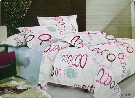 set with 4 pcs pure cotton broadbrimmed printing