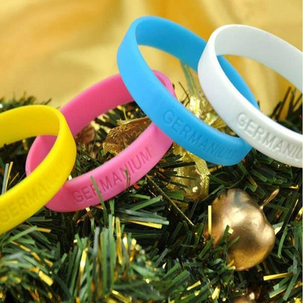 many colors silicone wristbands rubber bracelets with personal package