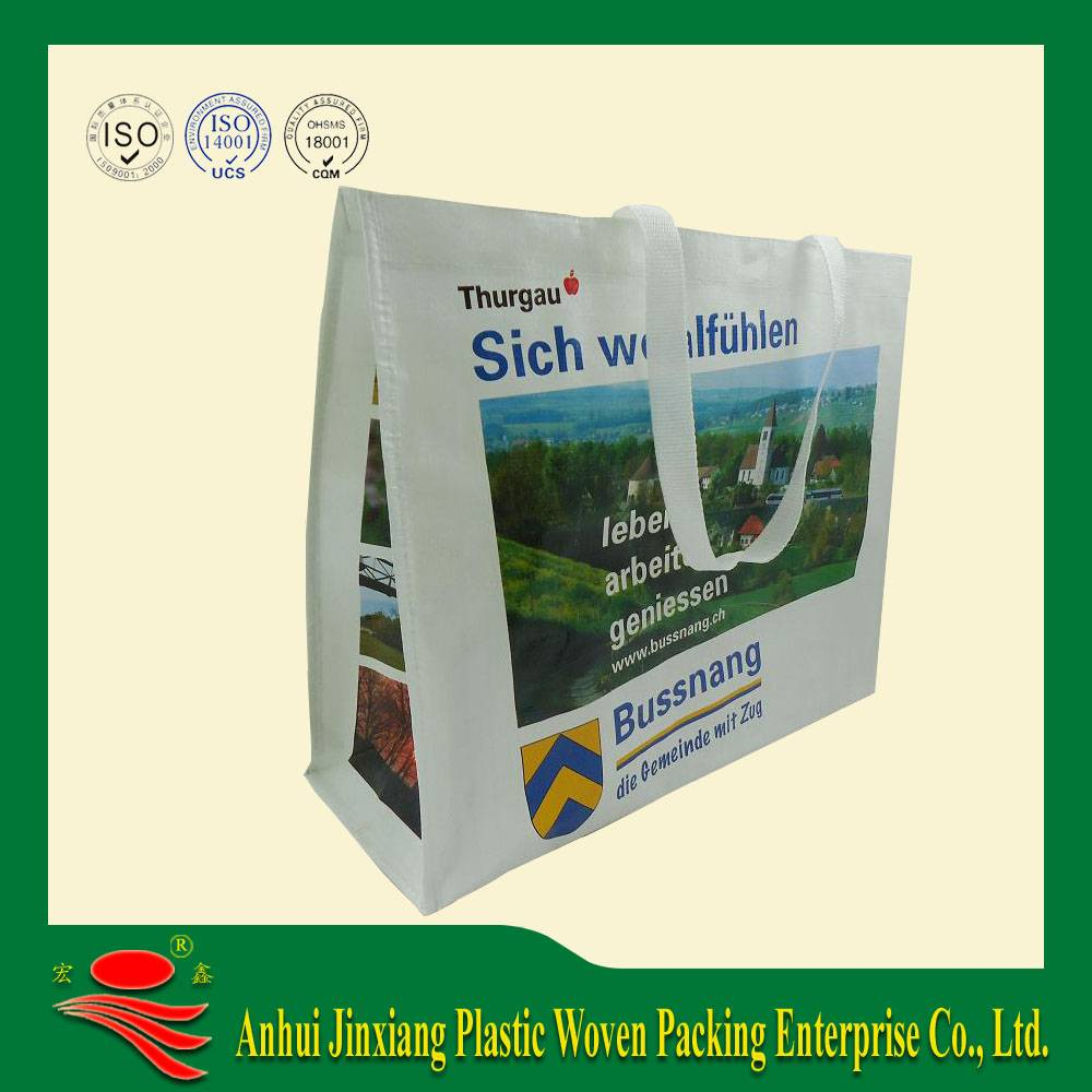pp non woven shopping bag with print