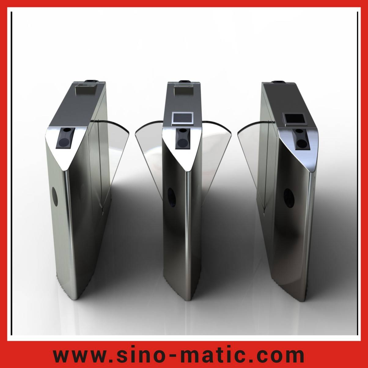 Stainless steel pedestrian control system wholesale automatic speed gate flap barrier