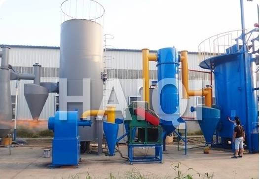 Wood chips gasifier furnace for dryer / Wood chips gasification to connect with drying equipment