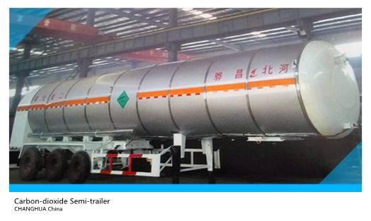 liquid carbon dioxide semi-trailer