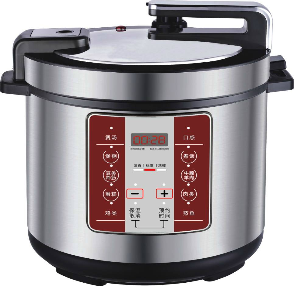 Newest Microcomputer Digital Control Electric Pressure Cooker with Golden Color