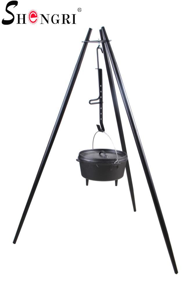 camping bbq grill tripod