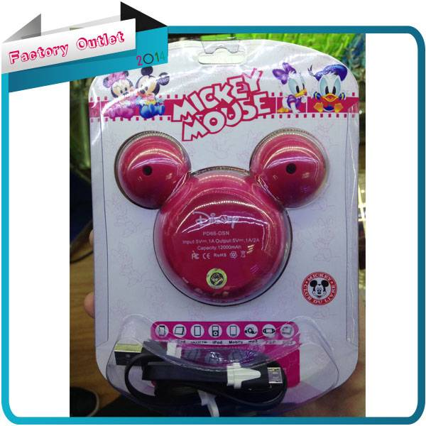 cartoon For Mickey Mouse 5200mAh Portable Mobile Emergency Power Bank