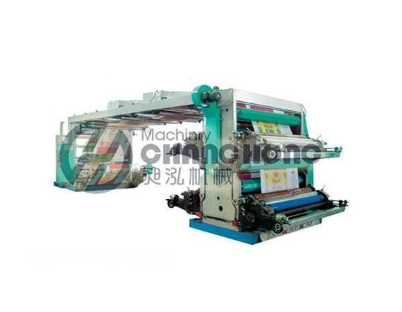 High Speed 4 Color Weave Cloth Flexographic Printing Machine(CH884)