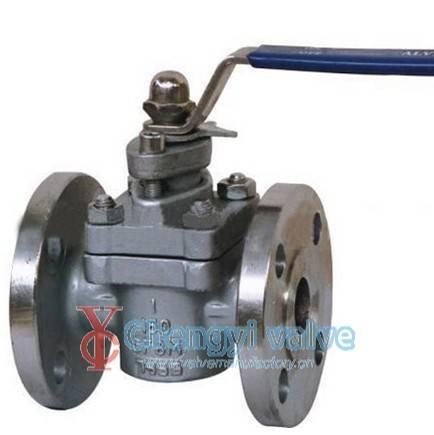 Two way plug valve