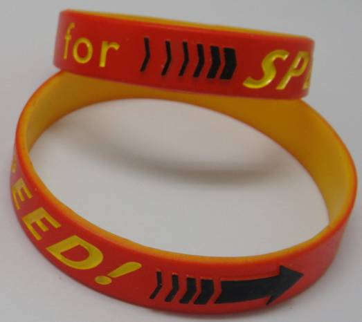 Embossed Arrow Silicone Rubber Wristbands