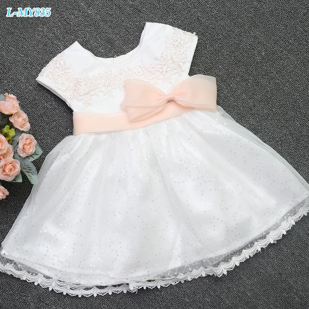 Children girl 7th birthday party dress kids wear princess frock design dress for girls