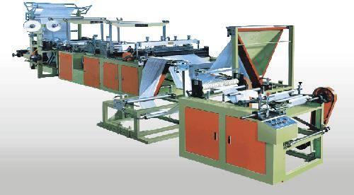 Computer-controlled Ribbon-through Garbage Bag Making Machine
