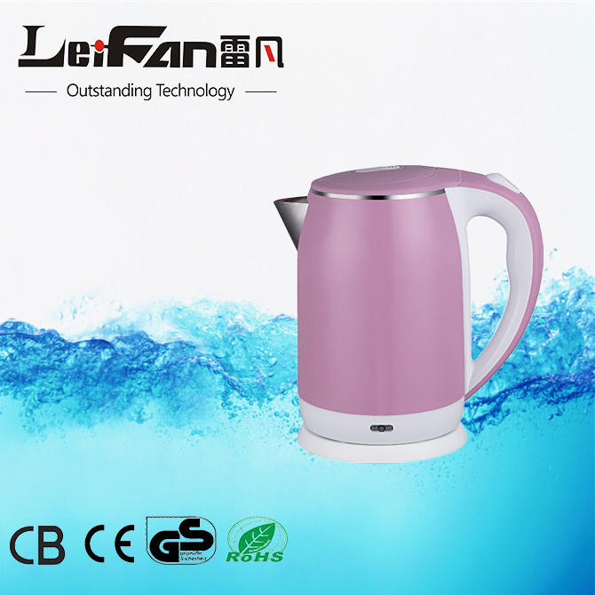 double wall stainless steel 2L electric kettle
