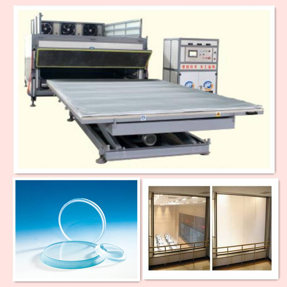 EVA film automatic laminating glass machine without autoclave