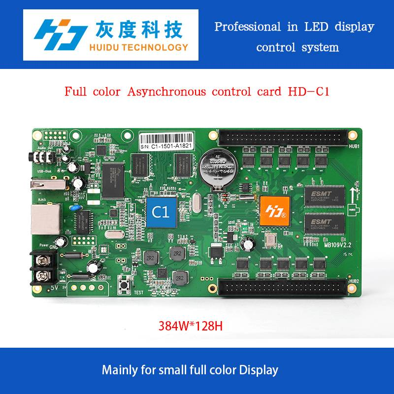 full color video asynchronous led display controller card