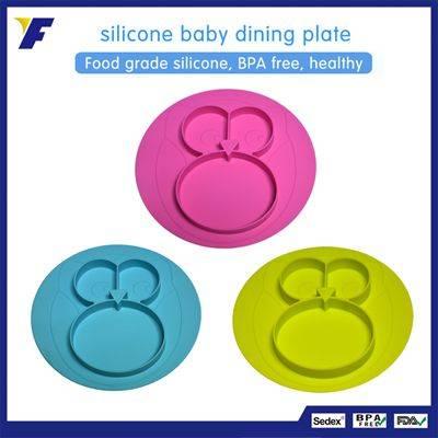 New Design Unique Shape Silicone Dinner Plate