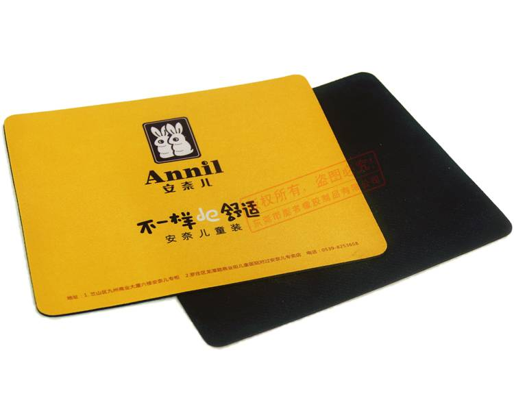 New product square novelty harmless material soft rubber mousepad
