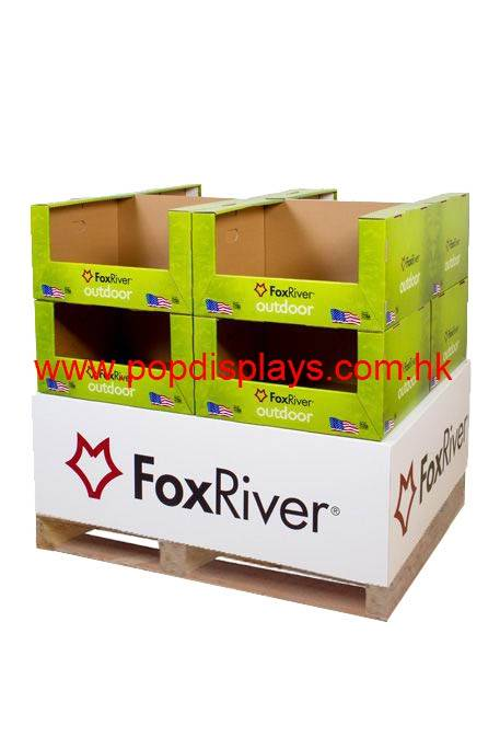 limai03 pallet display unit Cardboard Display with Hook Glossy Coating Customised