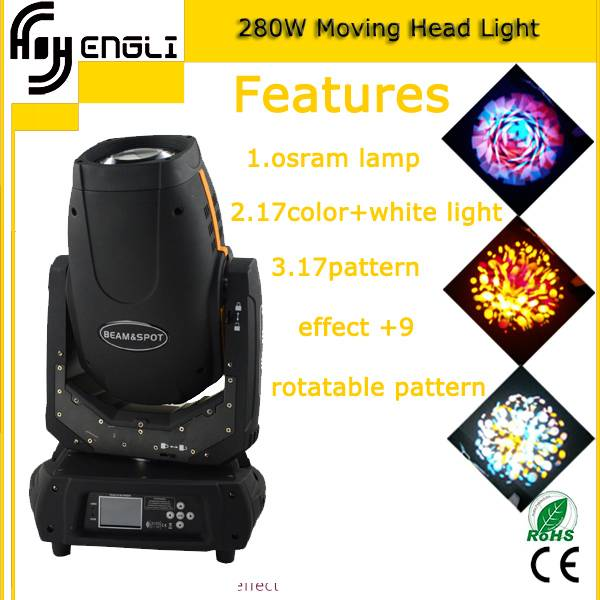 280W Beam spot moving head stage effect lighting(HL-280ST)