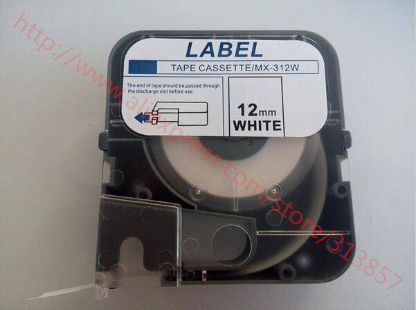 cable marker ID printer label tape Cassette LM-PT312W White For wire marking machine LM-380E / A LM-