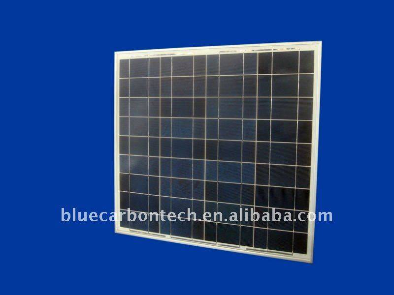 Framed polycrystalline 75w solar panel