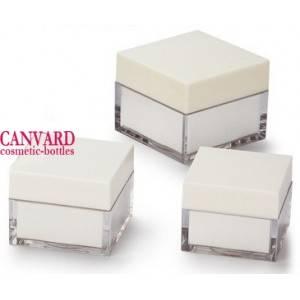 20g-30g-50g-white acrylic cream jars