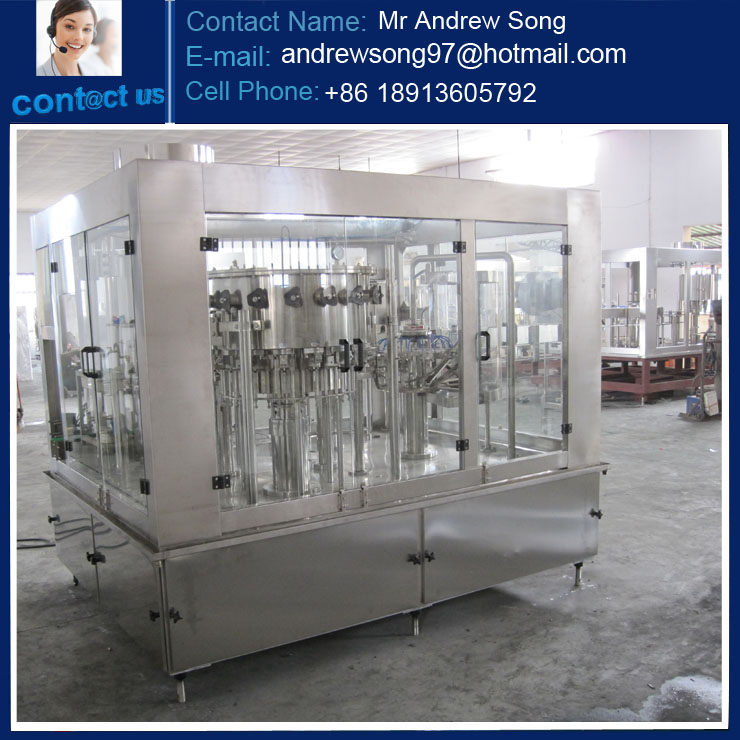 High speed PET bottle Carbonated Drink Filling Machine packing line
