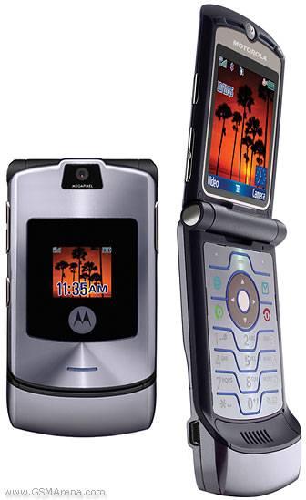 Original unlocked GSM mobile phones Motorola RAZR V3i