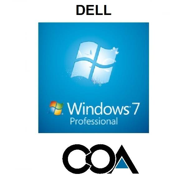 Microsoft Windows 7 Professional OA DELL COA Sticker
