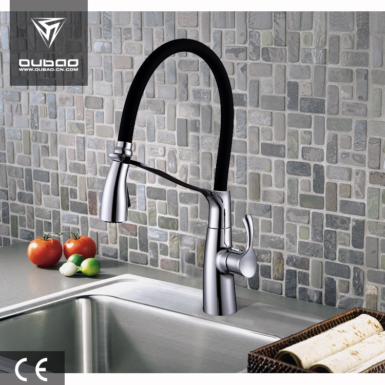 Hot Sale Rotating Kitchen Mixing Faucet Black Hose Faucet
