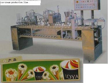 Ice cream lolly cone production manufacturing line plant