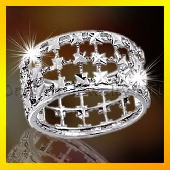 high quality fashion design shinny silver ring