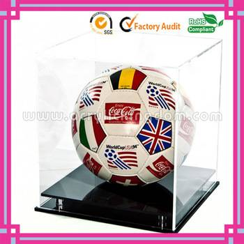 Clear acrylic football display case presentation box