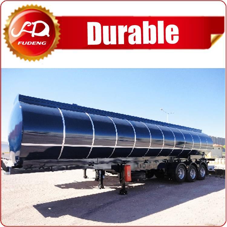 3 axle crude oil bitumen asphalt tank semi trailer export to Dubai