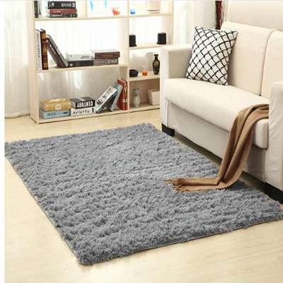 Super Soft Silk Wool Rug Indoor Modern Shag Area Rug Silky Rugs Bedroom Floor Mat Baby Nursery Rug C