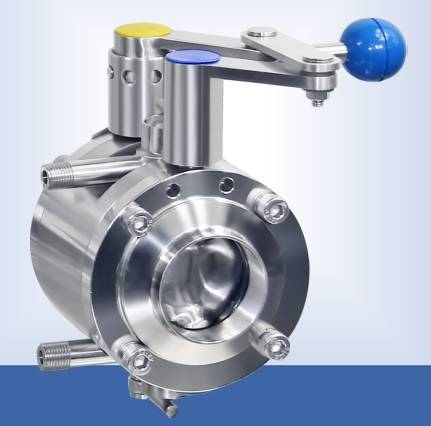Stainless steel manual double butterfly valve
