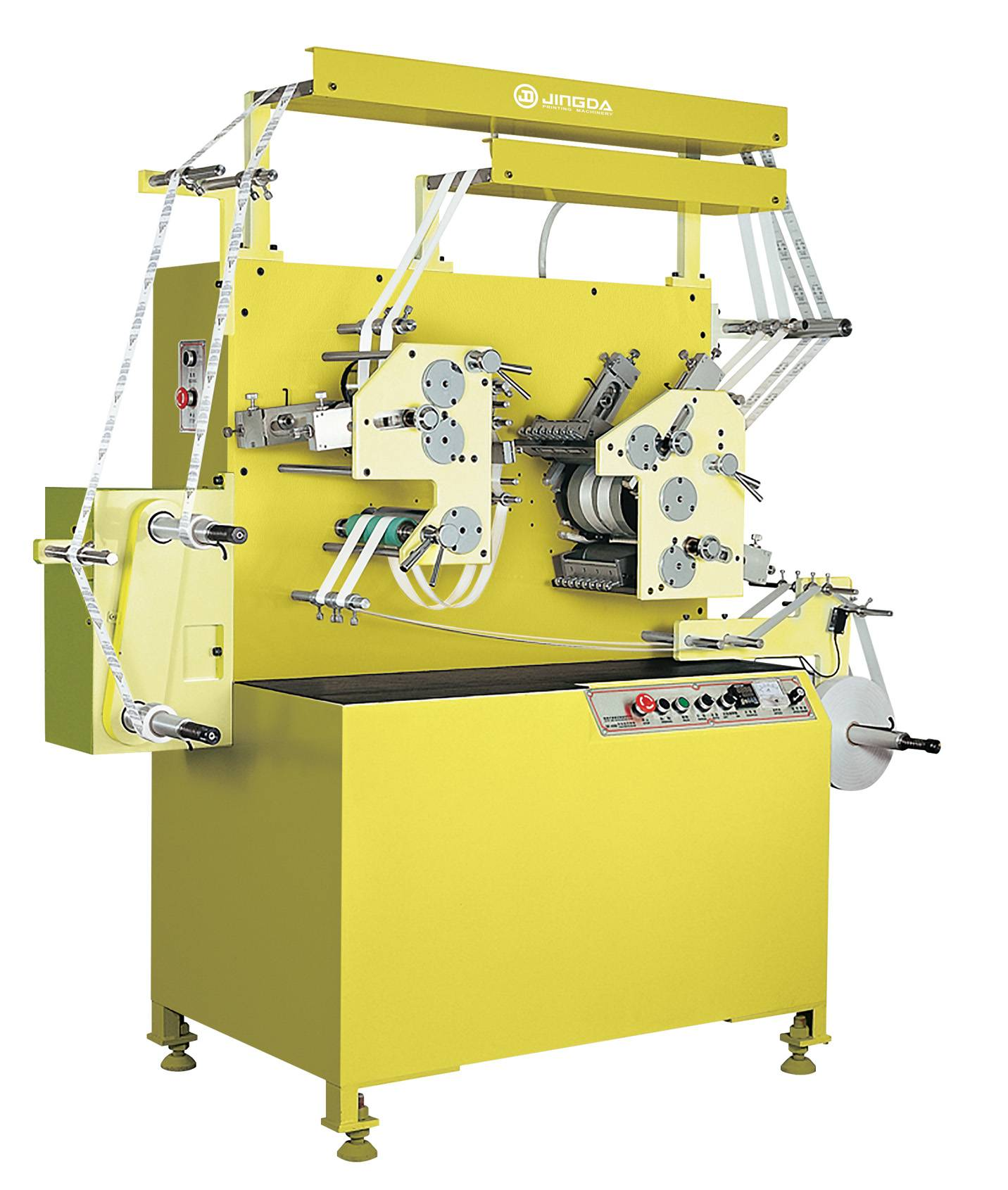 Satin Ribbon Label Printing Machine/Flexo Fabric Label Printing Machine (2Colors+1Color) JR-1521