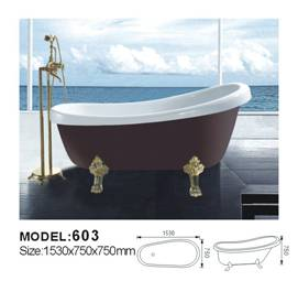 classical acrylic bathtub