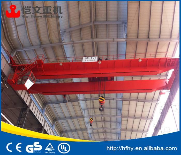 european style double girder/ double beam bridge crane China supplier machine