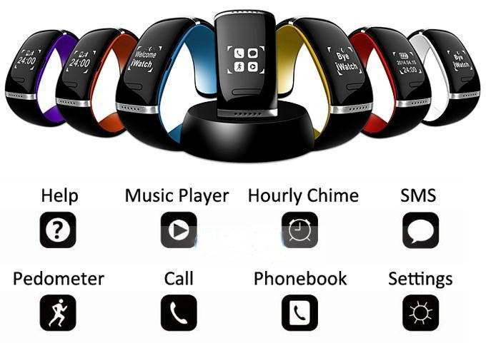 2014 Fashionable Bluetooth Watch Smart Bluetooth Bracelets